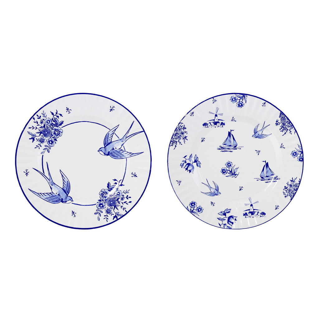 Party Porcelain Blue Large Plates