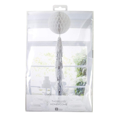 Talking Tables decadent decs 12 34 white honeycomb with tassels