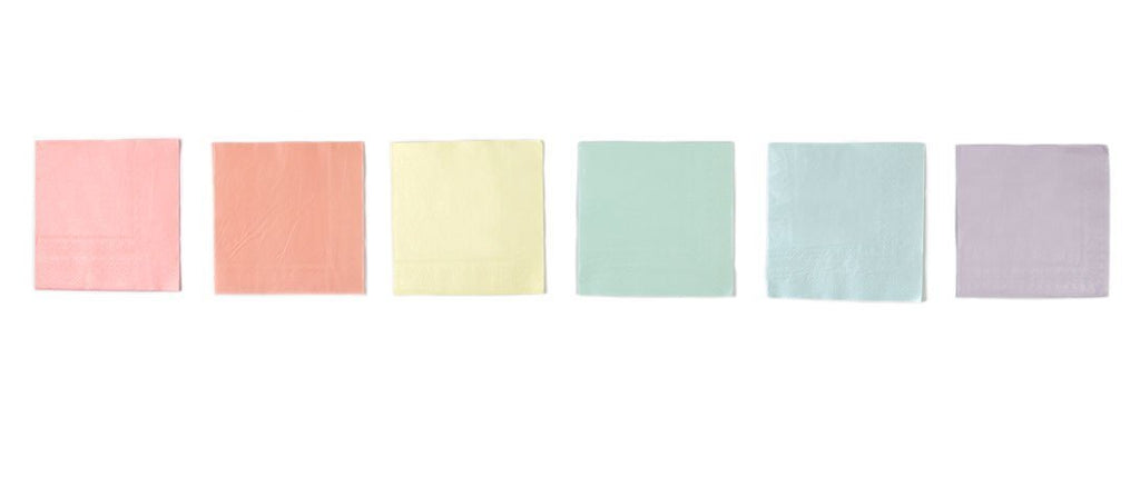 Talking Tables we heart pastels 33cm napkin in 6 colors 16pk