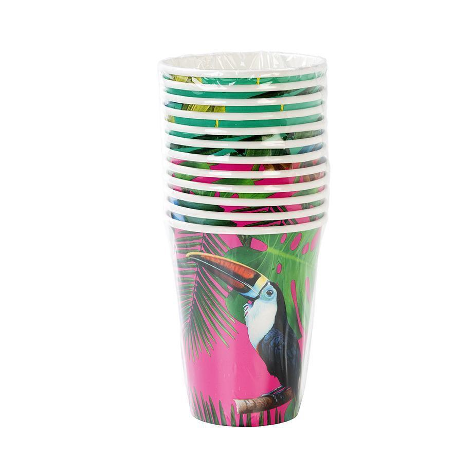 Talking Tables tropical fiesta bright large paper cup 120z