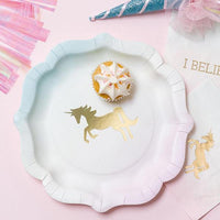 Talking Tables we heart unicorn pastel paper plates