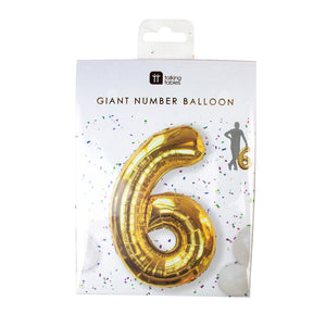 We Heart Birthdays Foil '6' Balloon