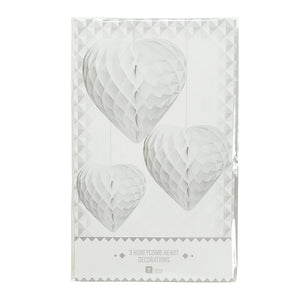 Decadent Decs White Honeycomb Hearts