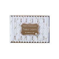 Talking Tables Party Porcelain Gold Table Lights