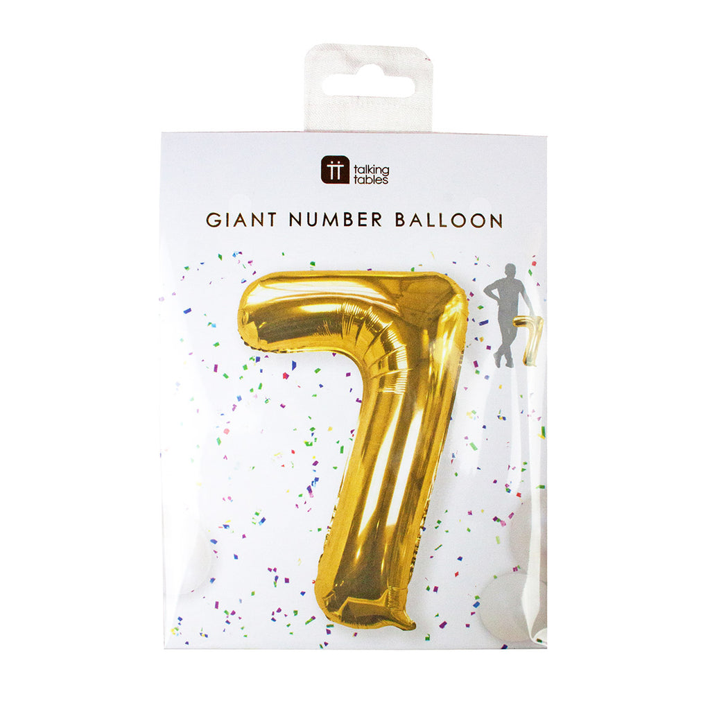 We Heart Birthdays Foil '7' Balloon