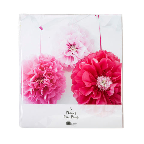 Talking Tables Decadent Garden Pink Flower Pom Poms