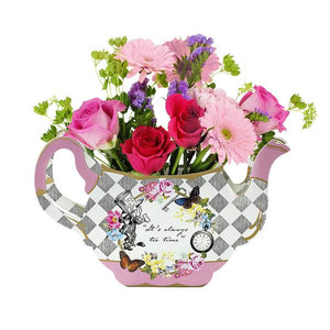 Truly Alice Whimsical Tea Pot Vase