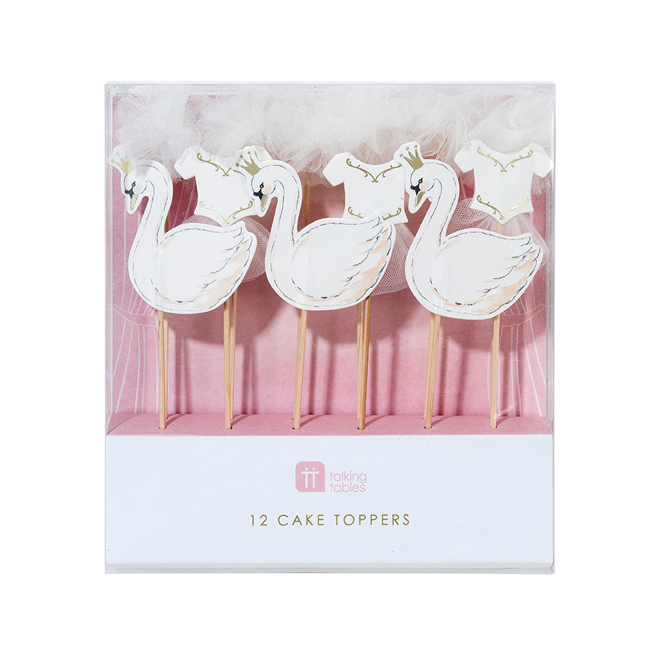 We ♥ Swans Cake Toppers