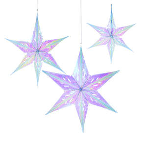 Talking Tables Decadent Decs Iridescent Star Decoration