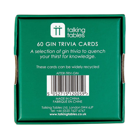 After Dinner Gin Trivia