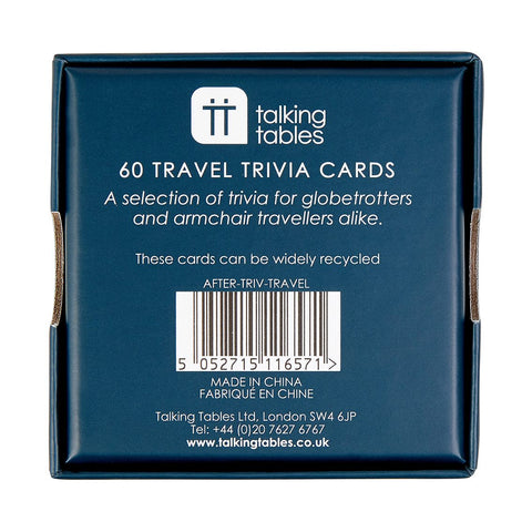 After Dinner Travel Trivia