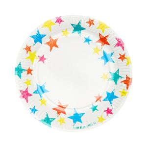 Birthday Brights Rainbow Star Plates