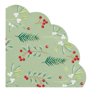 Botanical Berry Scalloped Napkin