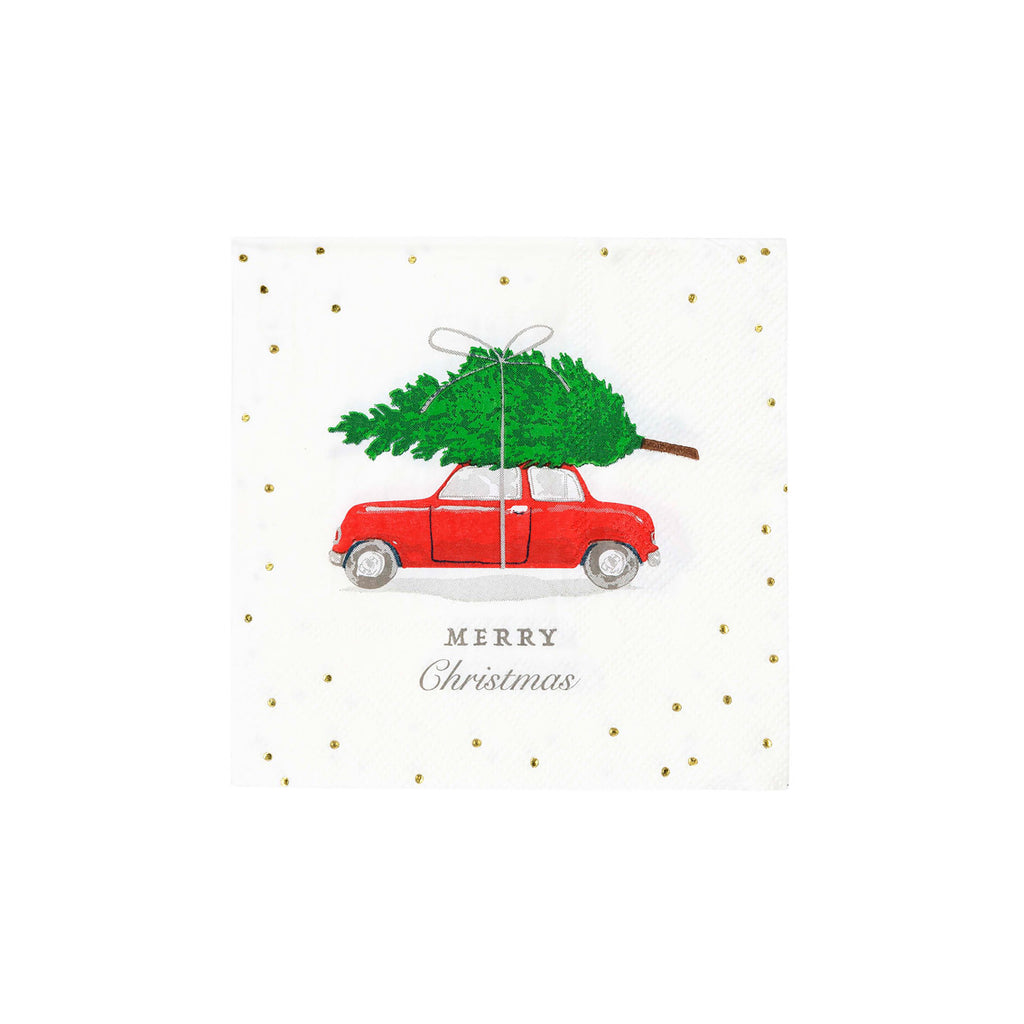Botanical Berry Car Cocktail Napkin