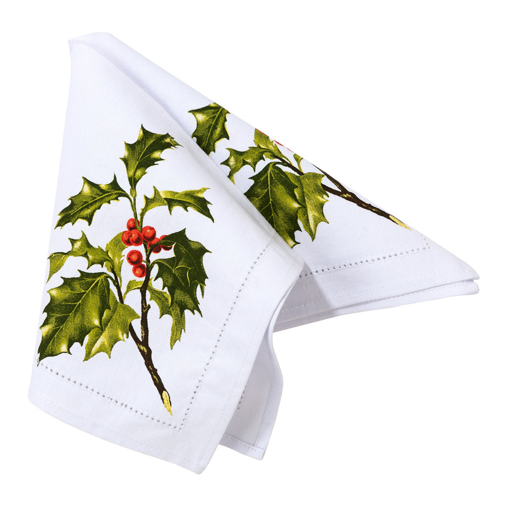 Botanical Holly Fabric Napkin