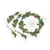 Botanical Holly Napkin