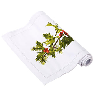 Talking Tables Botanical Holly Fabric Table Runner