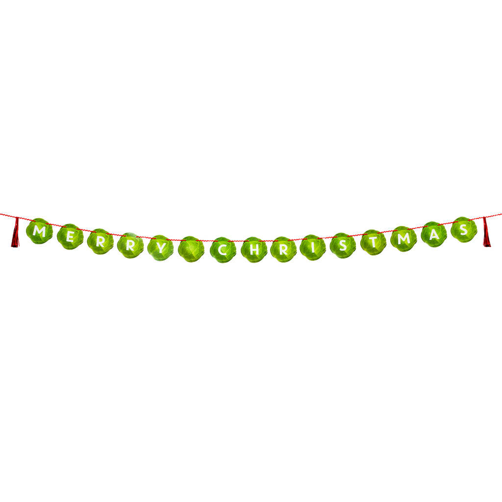 Botanical Sprout Merry Christmas Garland