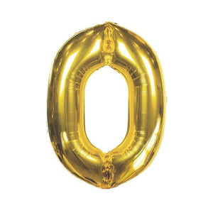 We Heart Birthdays Foil Balloon '0'