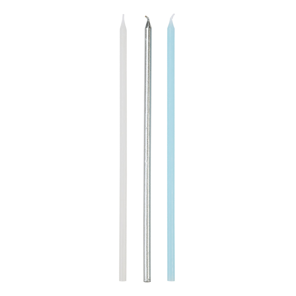 We Heart Blue Long Candles