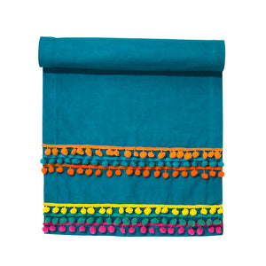 Global Gathering Fabric Table Runner