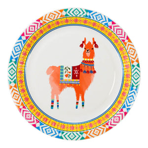 Boho Llama Party Paper Plates (Pack of 8)