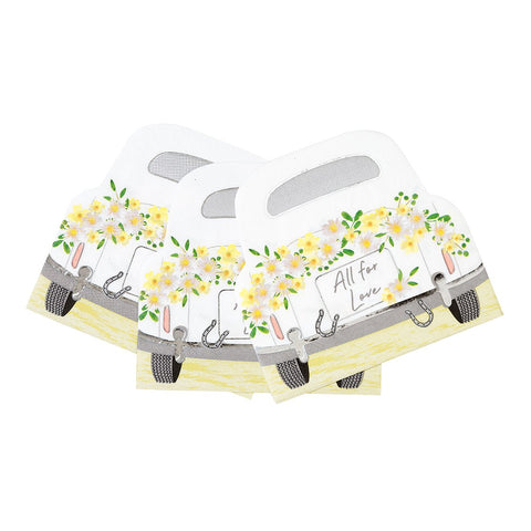 Boho Bride Car Shaped Napkins - Talking Tables EU Public