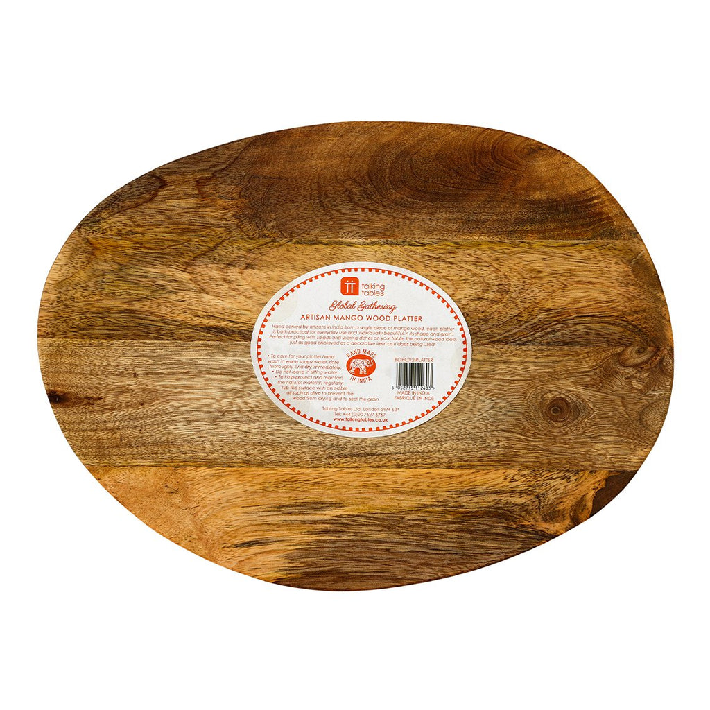 Boho Spice Mango Wood Platter - Talking Tables EU Public