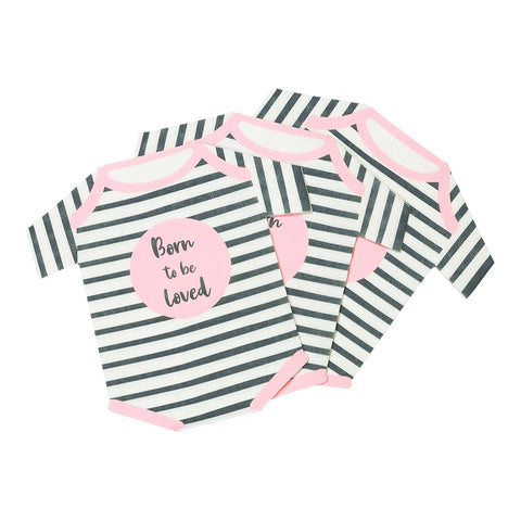 Born To Be Loved Pink Baby Grow Shaped Napkins - Talking Tables EU Public