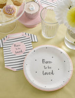 Born To Be Loved Pink Plates - Talking Tables EU Public