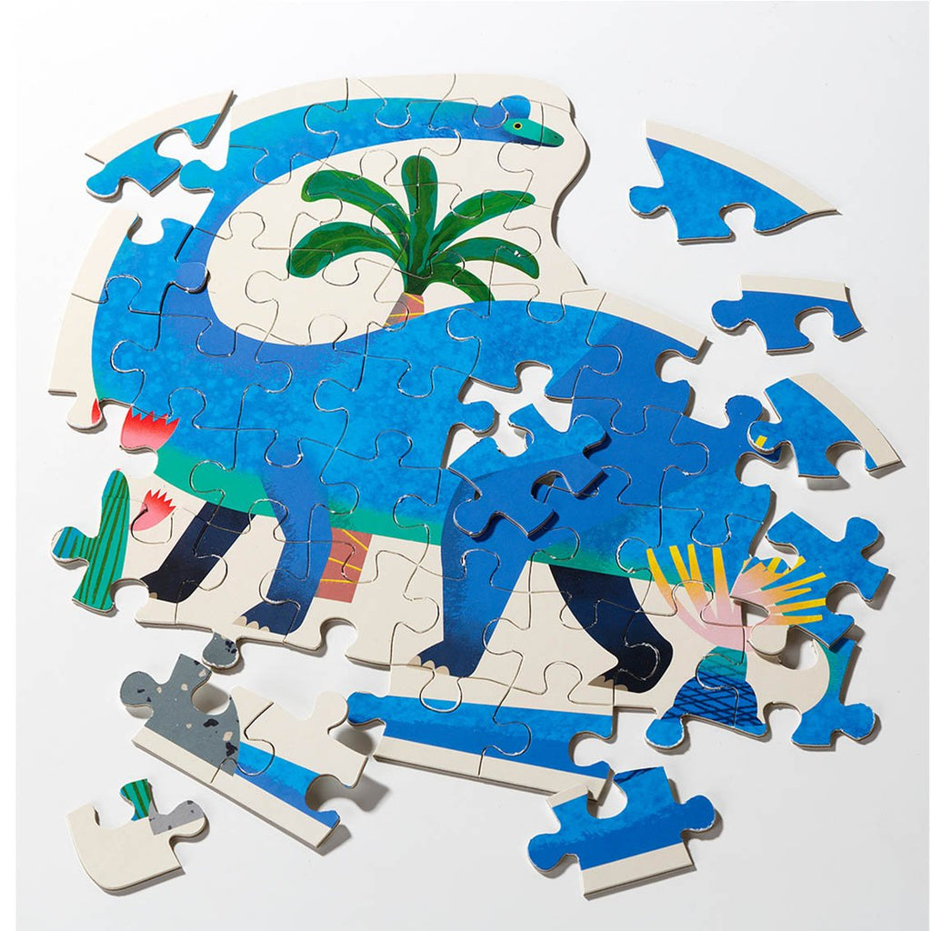 Party Dinosaur Brachiosaurus Shaped Puzzle 52 Pieces - Talking Tables EU Public
