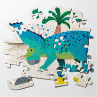 Party Dinosaur Triceratops Shaped Puzzle 62 Pieces - Talking Tables EU Public