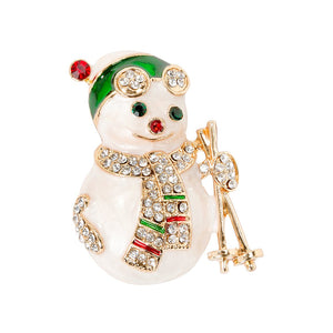 Christmas Entertainment Snowman Enamel Badge - Talking Tables EU Public