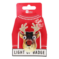 Christmas Entertainment Light Up LED Badges - Talking Tables EU Public