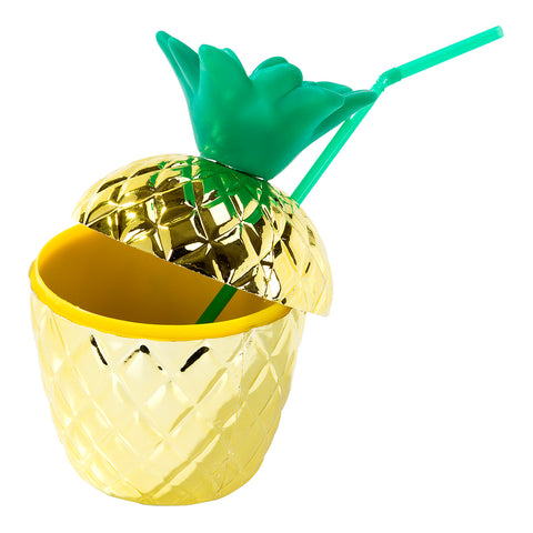Tropical Fiesta Gold Pineapple Cup