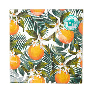 Tropical Palm Orange Napkins