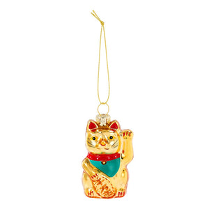 Lucky Cat Glass Tree Decoration - Talking Tables EU Public