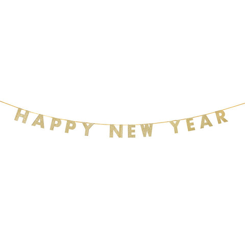 Happy New Year Gold Glitter Garland