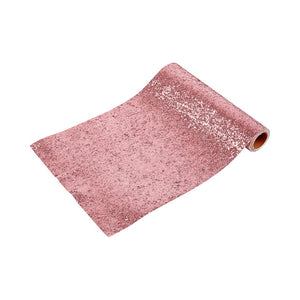 Luxe Pink Glitter Table Runner, 18M