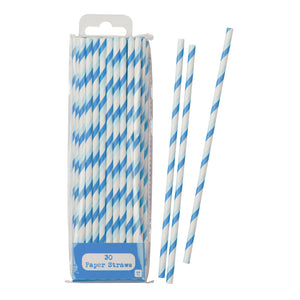 Mix & Match Blue Straws