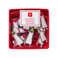 Penguin Parade Wooden Scatter - Talking Tables EU Public