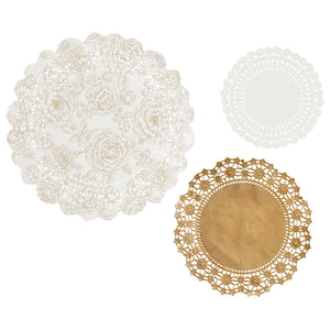Party Porcelain Gold Doilies