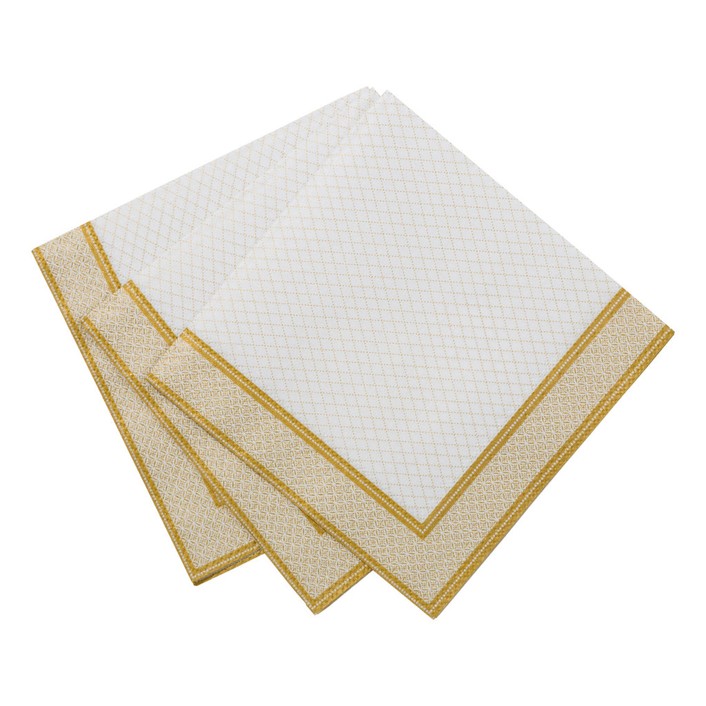 Party Porcelain Gold Cocktail Napkin