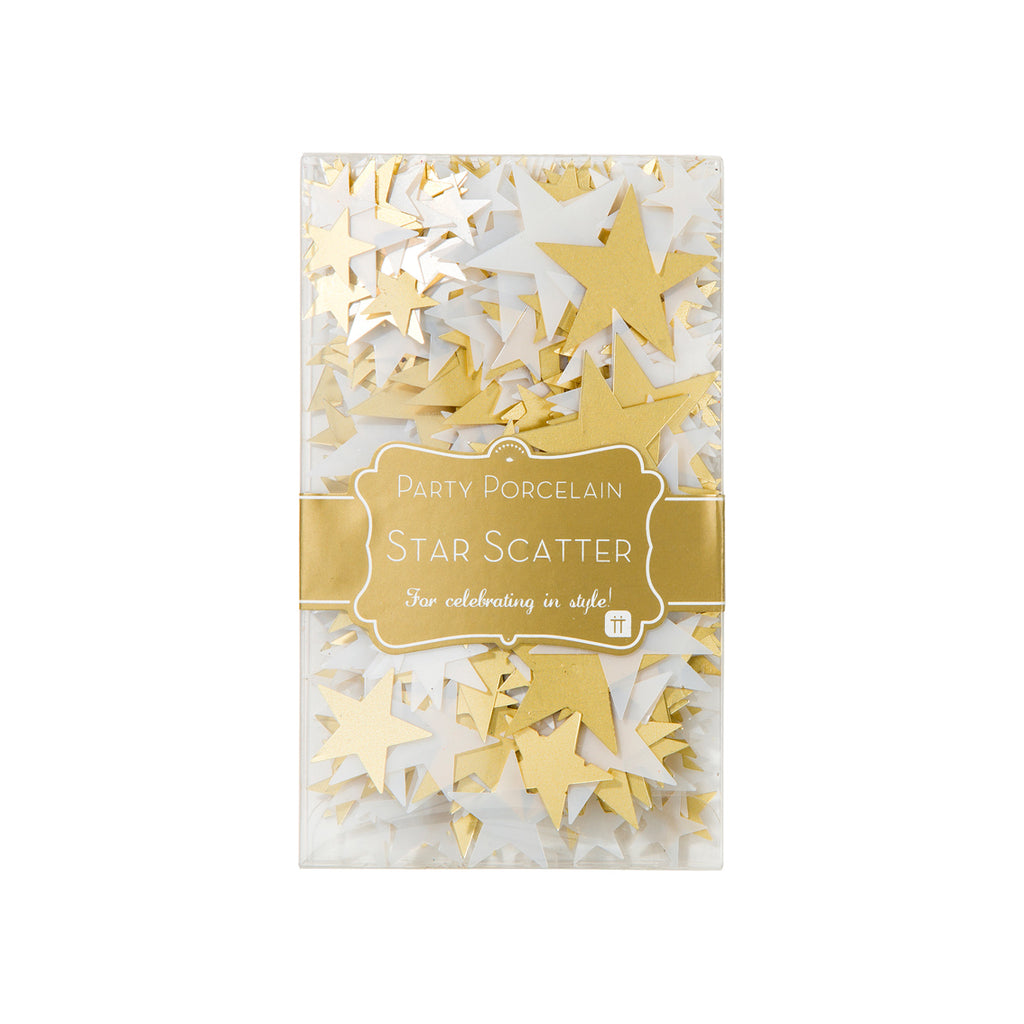 Party Porcelain Gold Star Scatter
