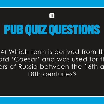 Printable - Pub Quiz II - Talking Tables EU Public