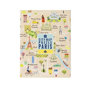 Map Puzzle Paris