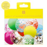 Rainbow Brights Confetti Balloons - Talking Tables EU Public