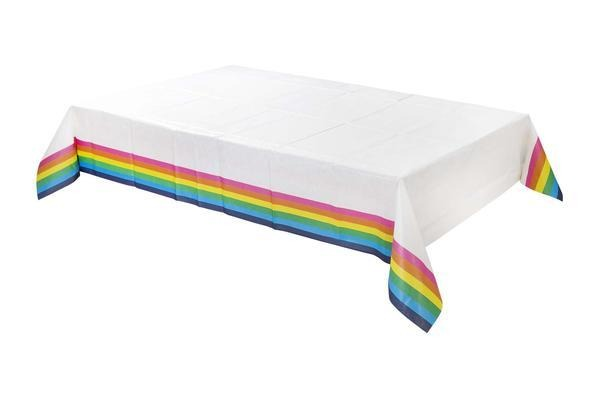 Talking Tables Birthday Brights Rainbow Table Cover