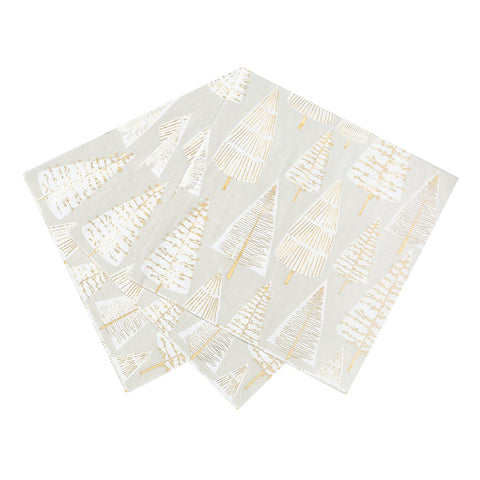 Stars Gold Tree Napkin