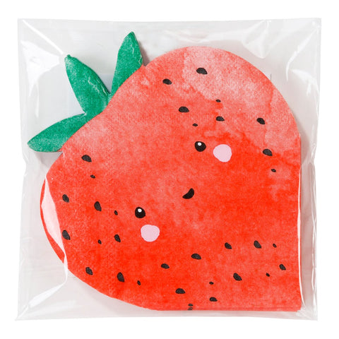 Strawberry Fields Strawberry Shaped Cocktail Napkins - Talking Tables EU Public